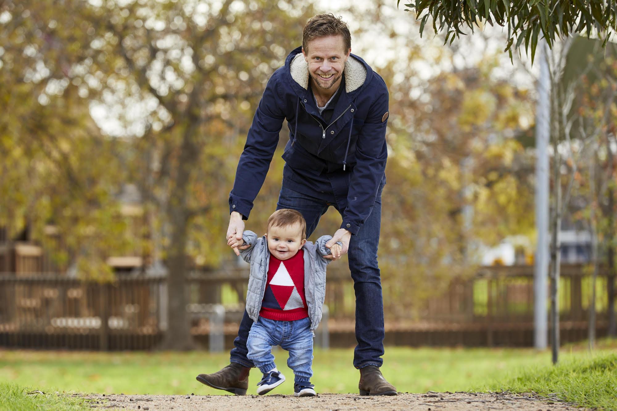 Scott Davison with son
